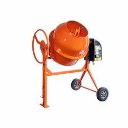 BKE Semi-Automatic Mini Concrete Mixer, 200ltr Steering