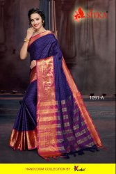 Toran Silk -1091 Poly Cotton Jacquard Silk Fancy Sarees