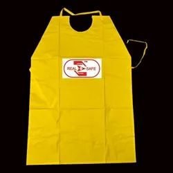 Real safe Plain PVC Aprons, For Construction, Size: Free Size