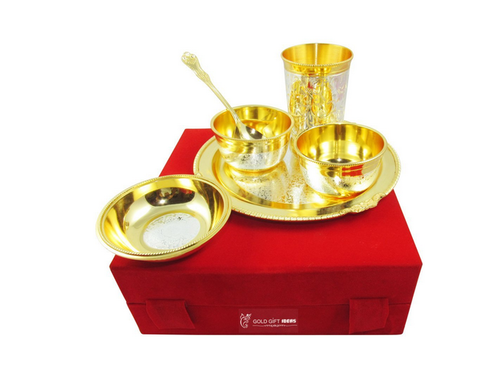 8 Inch Gold Silver Plated Dinner Set  sc 1 st  IndiaMART & 8 Inch Gold Silver Plated Dinner Set at Rs 2299 /pack | Silver ...