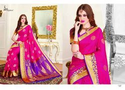 Pink Color Art Pattu Silk Saree