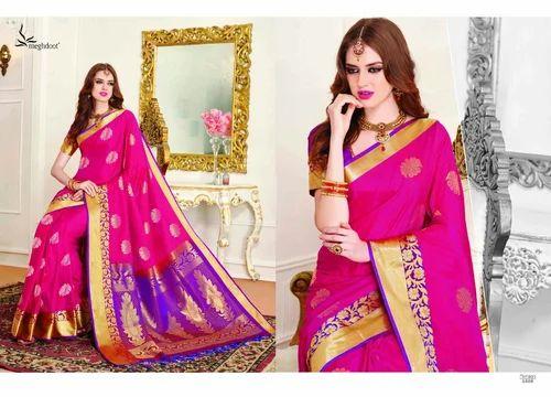 9b74a2f11db Art Silk Pink Color Party Wear Pattu Saree
