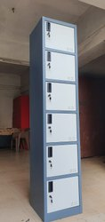 Safeage Cabinet With 6 Lockers Tower Type