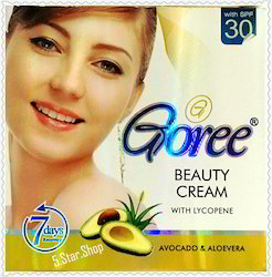 Greenish White Goree Beauty Cream, Packaging Size: Small Box Packing, Packaging Type: Plastic Box