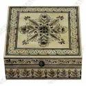 Ivory, Black Camel Bone And Mdf Black Painted Wood Bone Jewellery Box, Shape: Square