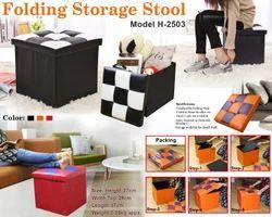 Folding Storage Stool H-2503