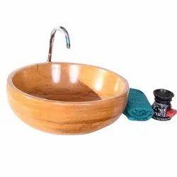 Brown Round Wash Basin