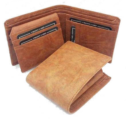 582aa47c4 PE Brown RFID Data Protection Leather Wallet RFID-MW02-BR
