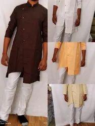Groom Wear 8 Colours Linen Stylish Kurta Pajama, Size: 36 to 44, Machine wash