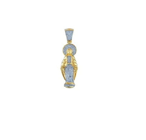 Mother mary diamond pendant 9kt gold at rs 27000 piece diamond mother mary diamond pendant 9kt gold aloadofball Image collections