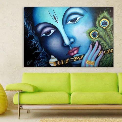 Lord Krishna Wall Painting
