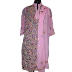Ladies Cotton Designer Suit, Size: S-XXXL