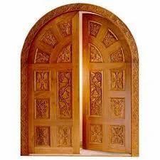 wooden doors with custom design
