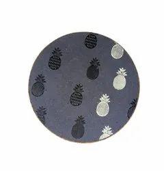 Happy handmade purple coffee pineapple printed place mat/trivet