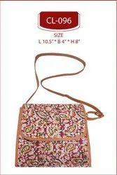 Cotton Printed Sling Bag . Designer Printed Sling Bag .