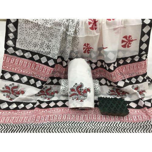 0f6fd70453 Cotton Suit Material With Mulmul Cotton Dupatta at Rs 600 /piece ...