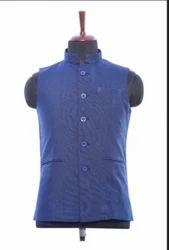 WC00037-339 Princely Blue Cotton Waistcoat