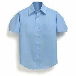 Summer PC Blue School Uniform Shirt, Size: 22 to 42