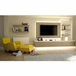 Light Brown Termite Resistant Modular TV Cabinet