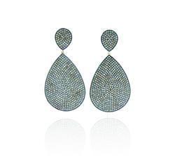 Chic Designs 925 Silver Drop Dangle Earrings, Size: 71x35 Mm