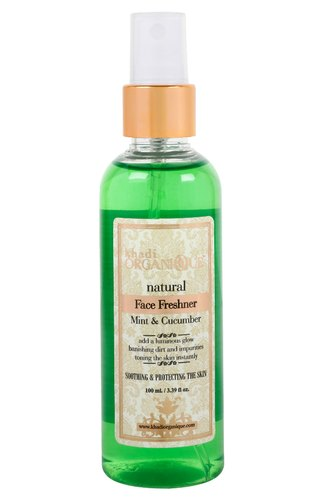 Khadi Organique Herbal Mint and Cucumber Face Freshener, Pack Size: 100 Ml, Packaging Size: 100 Ml