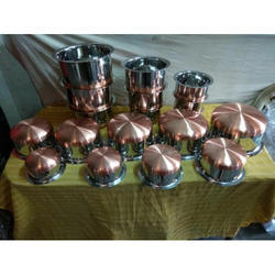 Round Stainless Steel Tope Set, Usage: Home, Hotel & Restaurant