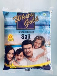 White Gold Iodised Salt, Packaging Type: Pouch, Packaging Size: 1kg
