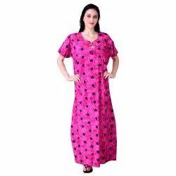 SEEKret Full Length Trendy Cotton Designer Nighty