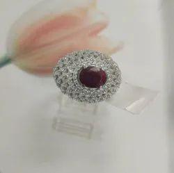 925 Sterling Silver Jewelry Ruby Gemstones Rings Jewelry Women
