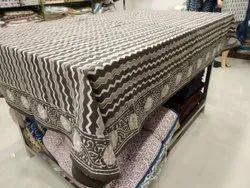Cotton Kalamkari bagru Hand Block Printed Table Cover, Size: 60 X 90 Inches