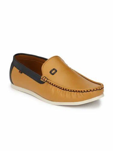 Tan Color Leather Men Loafer Shoes