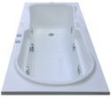 Rex Jacuzzi Bathtub - 5.5' x 2.5' - White