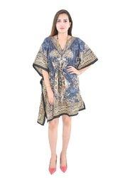 Indian Beach Silk Wear Poncho Fashionable Kaftan