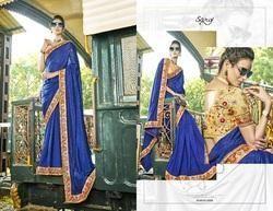 Ethnic  Peach Designer Bridal Saree