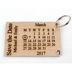 Calendar Keychain Save the date Keychain