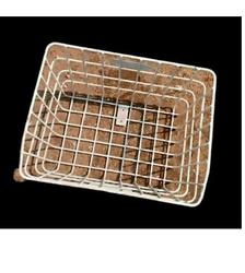 White Mild Steel Cycle Front Basket, Packaging Type: Carton Box