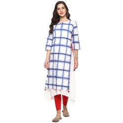 Yash Gallery Women's Cotton Double Layered Kurta