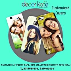 White Plastic Decor Kafe Customized/Mobile Covers