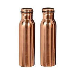 Polished Copper Bottle, Capacity: 1ltr