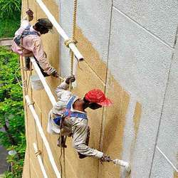 exterior paint application. exterior wall painting service paint application