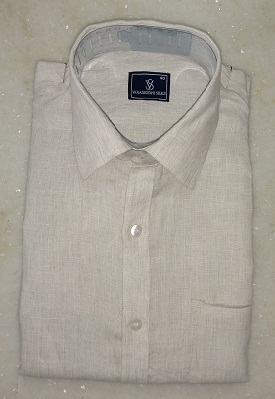 07b5acea3 Beige Mens Pure Linen Shirt - 100% Original - 60 LEA, Rs 850 /piece ...