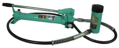 Green Hydraulic Jacks with Remote Pump, Capacity: 11-40 Ton