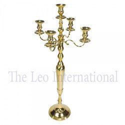 Decorative Brass five arm Candelabra golden color