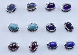 Amethyst Gemstone Handmade Jewelry 925 Sterling Silver Stud Earring Ws-4657