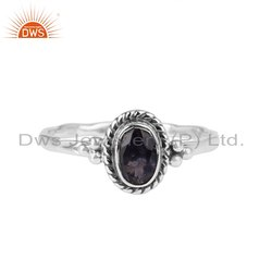 Iolite Gemstone New Design Sterling Silver Rings