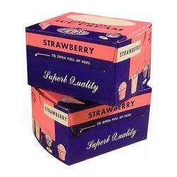 Cardboard Printed Ice Cream Packaging Box, For Food