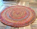 Indian Braided Cotton Floor Rug