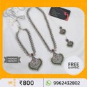Silver India Oxidised Necklace