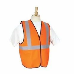 Polyester Plain Sleeveless Safety Jacket
