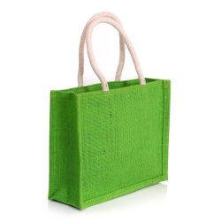 Green Promotional Jute Bag, Features: Moisture Proof
